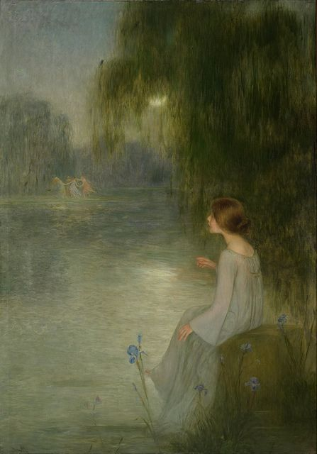 """Joan Brull (Spanish, 1863-1912) -""""Dream"""" (from Google Art Project) 