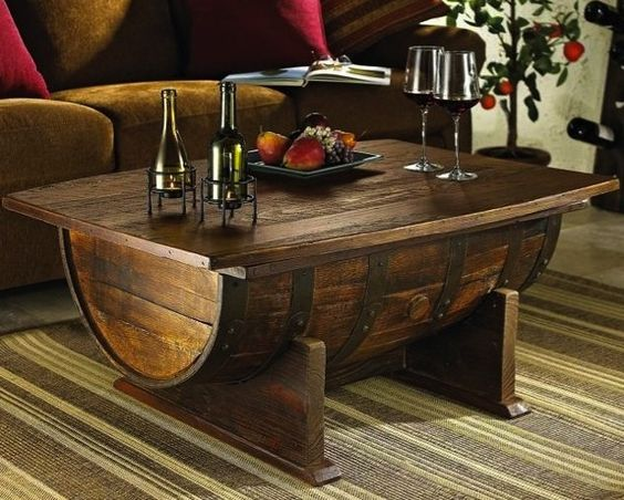 Mesa de barril para comedor barriles pinterest mesas for Bar barril de madera