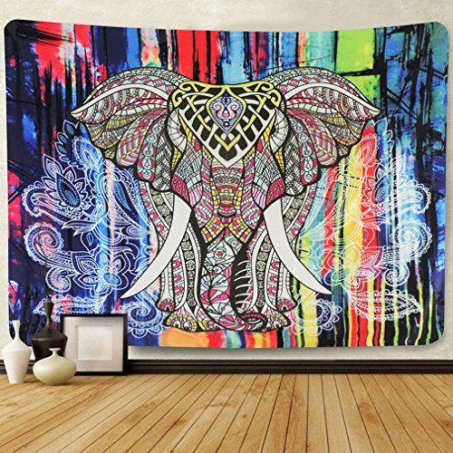 Wall Tapestry Elephant Tapestry Mandala Tapestry Bohemian...