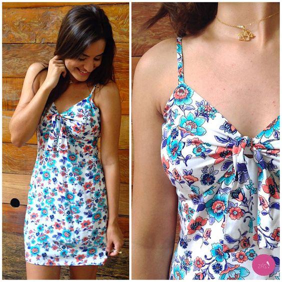Para os dias quentes um vestido leve, fresquinho e floral! #Vemprazas
