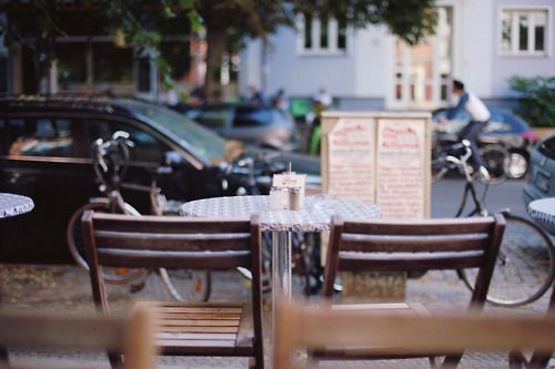 Outdoor cafes and people watching :)