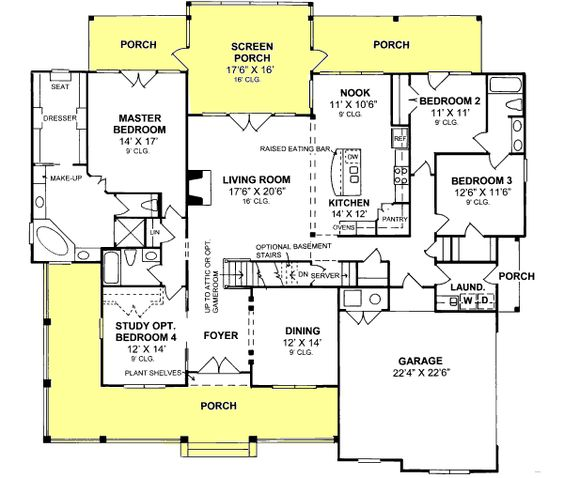 Country style house plans 2512 square foot home 1 for 1 story country style house plans