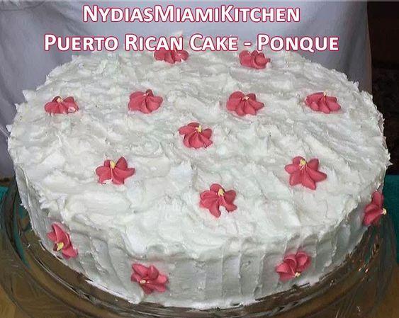 Puerto Rican Ponque Cake Recipe