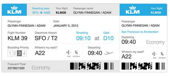 Should Airlines Redesign Your Boarding Pass To Look Like This   Airline  Ticket Template Word  Airline Ticket Template Word