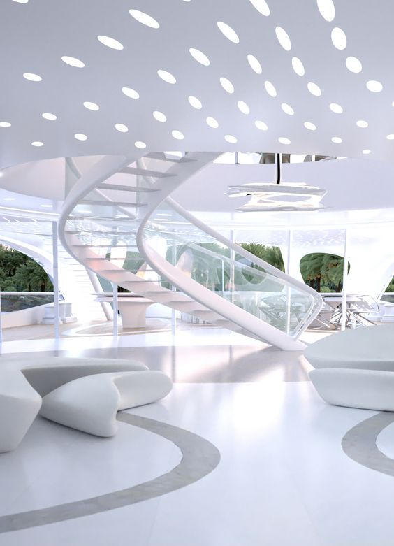 W.O.W... Yachts by Zaha Hadid Architects WOULD MAKE A GREAT RECEPTION AREA I LOVE THIS!!