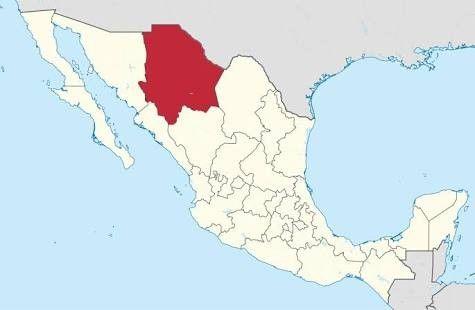 El Estado De Chihuahua Colinda Al Norte Con Los Estados Unidos De America Al Este Con Los Estados Unidos De America Mapa De Mexico Chihuahua Mapa De America