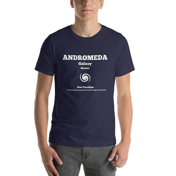 Andromeda Galaxy Short-Sleeve Unisex T-Shirt Many Colours