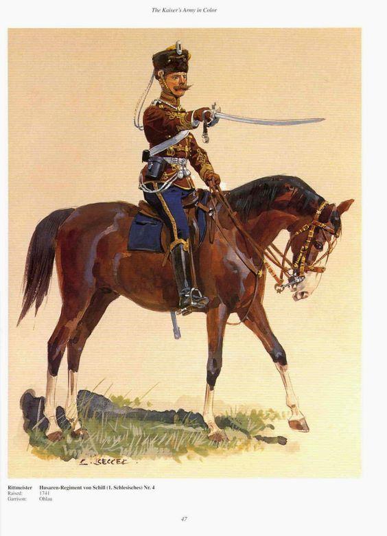 German 4th Hussars Von Schill Rittmeister Raised