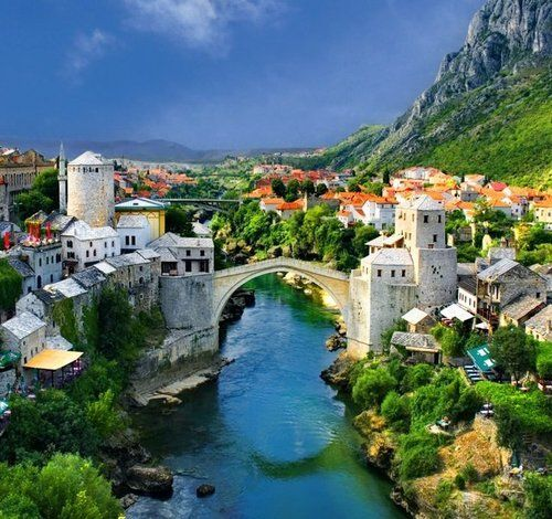 Mostar Bridge, Bosnia and Herzegovina photo via wiki