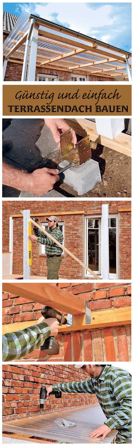 Wer beim Bau des Terrassendaches zu PVC-Doppelstegplatten statt zu Glas greift, kann eine Menge Geld sparen. Wir zeigen, wie man ein einfaches Terrassendach baut.