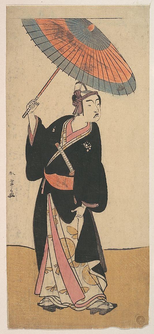 The Third Ichikawa Yaozo in the Role of Otokodate Sukeroku  Katsukawa Shunshô  (Japanese, 1726–1792)  Period: Edo period (1615–1868) Date: 1784 Culture: Japan Medium: Polychrome woodblock print; ink and color on paper