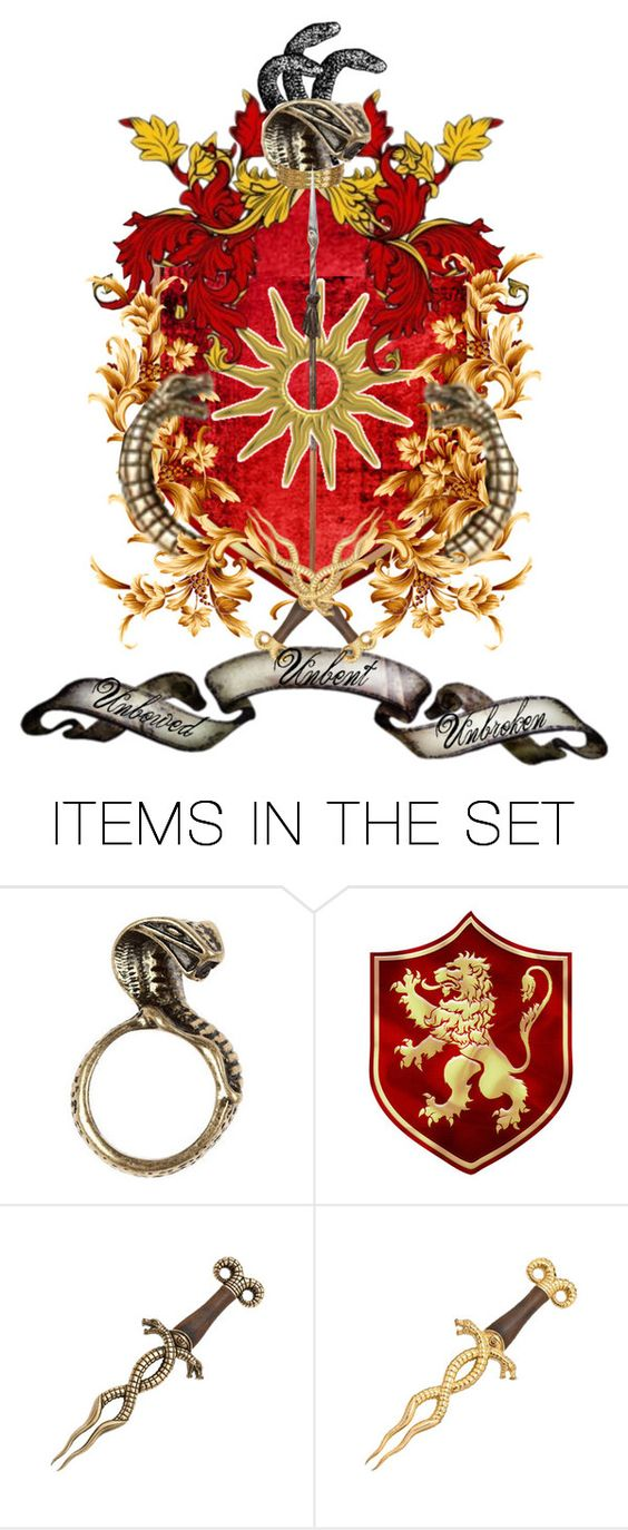 """""""all of Prince Oberyn's daughter's have his viper eyes. The color does not matter"""" by memmii-karlsson ❤ liked on Polyvore featuring art"""