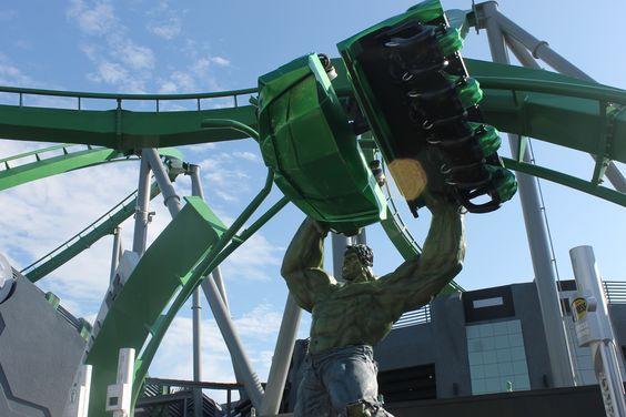 The Hulk rollercoaster