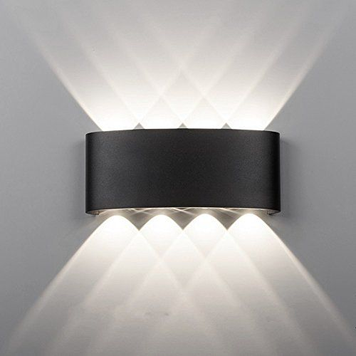 Maxmer 8w Modern Led Wall Light Sconce Ip68 Waterproof Wall Lighting Indoor Outdoor Double Up Down Wall Lig Up Down Wall Light Wall Sconce Lighting Wall Lights