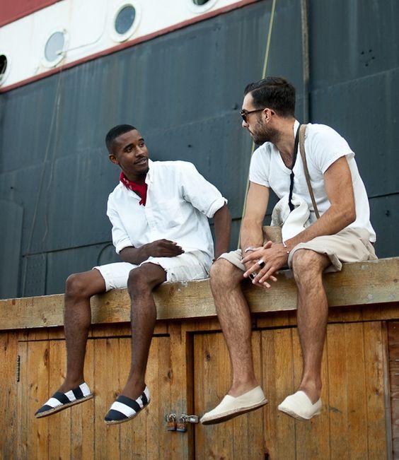 hola, look and fashion, alpargatas, hombre
