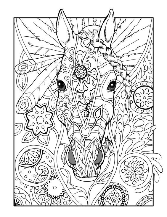 Pin By Diana Dovyda On Coloring Horse Zebra Unicorn Coloring Pages Horse Coloring Pages Mermaid Coloring Pages