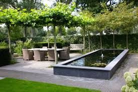 Jaren30woningen.nl   Natuurlijk overkapping van schaduwbomen  passend bij een #jaren30 tuin