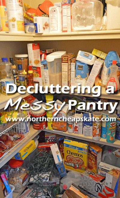 Decluttering a Messy Pantry  - http://www.northerncheapskate.com/decluttering-a-messy-pantry/ #lessismore