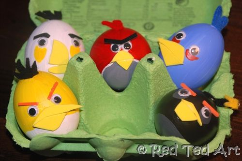 Angry bird easter eggs.