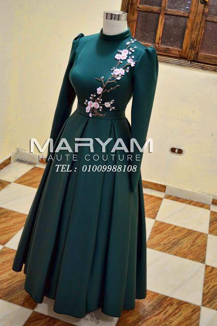 فساتين سواريه للمحجبات بموديلات متنوعة Islamic Fashion Dresses Muslim Fashion Dress Fashion Dresses