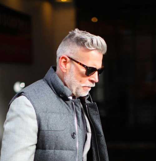 older men's style | Tapers Under Cut Hair Style for Older Men: