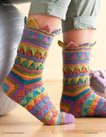 strickanleitung bunte socken entrelac fantastische socken strickideen 0115 socken strick. Black Bedroom Furniture Sets. Home Design Ideas