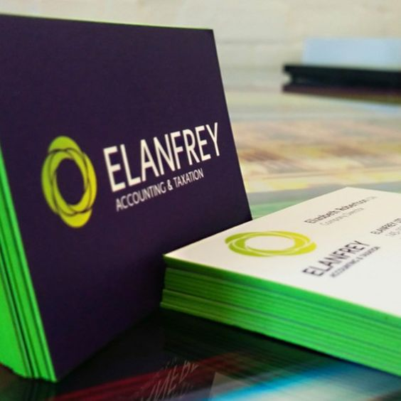 Coloured Edge Business Cards 600gsm