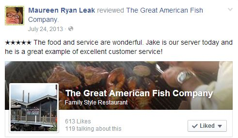 Maureen Ryan Leak reviewed The Great American Fish Company. http://bestfishrestaurantmorrobay.com/our-reviews/
