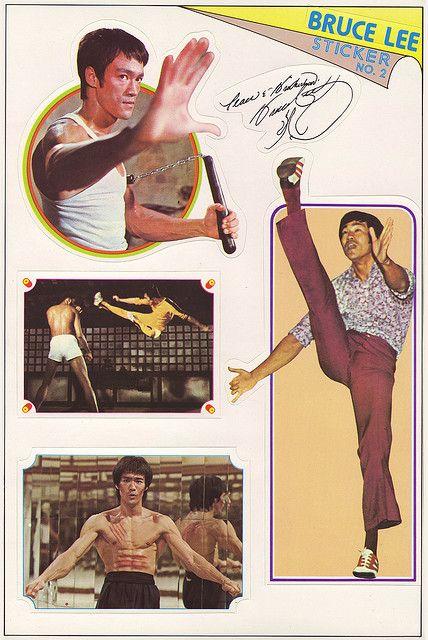 Bruce Lee stickers - sheet 2 of 6 - 1970's by JasonLiebig, via Flickr