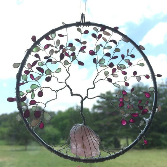 Rose arbre de vie attrape soleil attrape soleil par SugarHillGems
