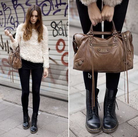 Awesome Cayla Barrette - Doma Jacket 7 For All Mankind Jeans Dr. Martens Boots - Weekend Wear | LOOKBOOK