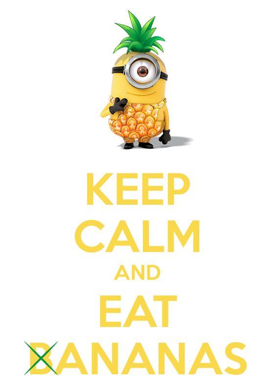 Une affiche minion & ananas fever • Potentiel Creatif