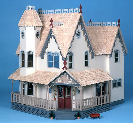 This Victorian dollhouse kit from Greenleaf is perfect for letting your child's imagination run wild. This house features spacious rooms, a beautiful staircase, and two impressive fireplaces your child will love to decorate and share with friends.