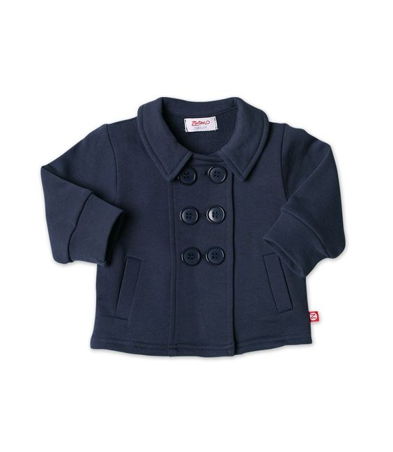 Navy Terry Baby Jacket (AFT02-NAVY-6M) | Zutano