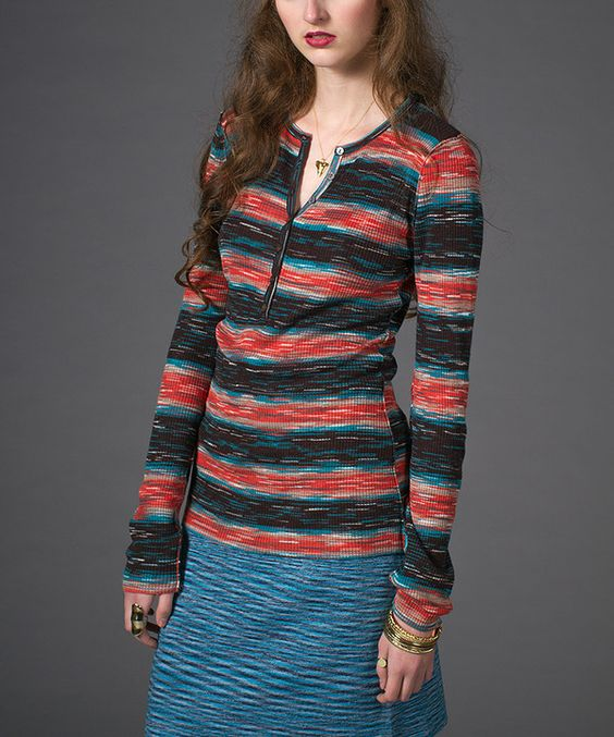 Another great find on #zulily! Dusk Ribbed Henley by Stacia #zulilyfinds