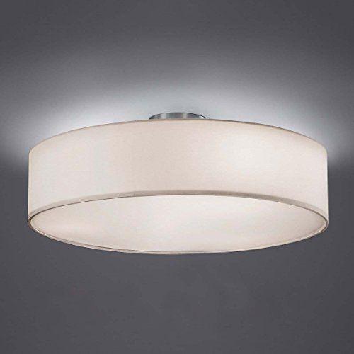 http://ift.tt/1Ief3je Moderne Deckenleuchte mit Stoffschirm in weiß Deckenlampe TR1/3/003 @salesiiju@