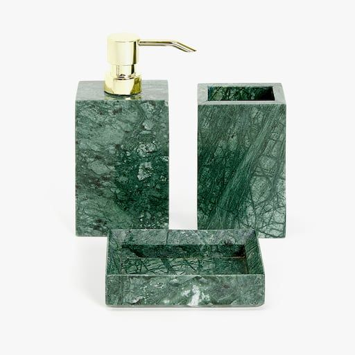 Image Of The Product Marble Bathroom Set Marble Bathroom Green