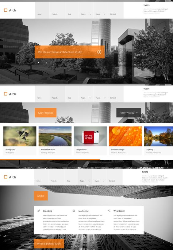 Arch  |  Responsive, Full-photo, Portfolio, Wordpress Template  |  themeforest  |  http://wp.themecss.com/Arch/