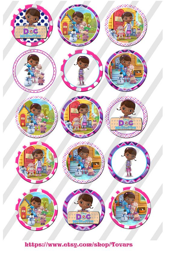 doc mcstuffins inspired 1 inch bottle cap images 4x6 template collage instant download. Black Bedroom Furniture Sets. Home Design Ideas