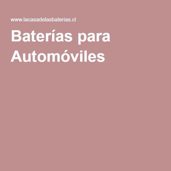 Baterías para Automóviles