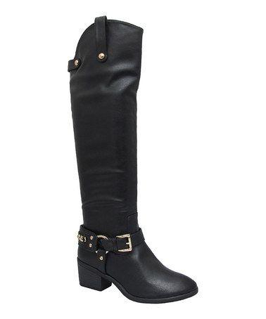 Look what I found on #zulily! Black Duke Boot by Yoki #zulilyfinds