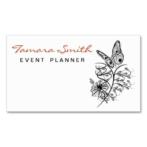 Party Planner Business card - event card template