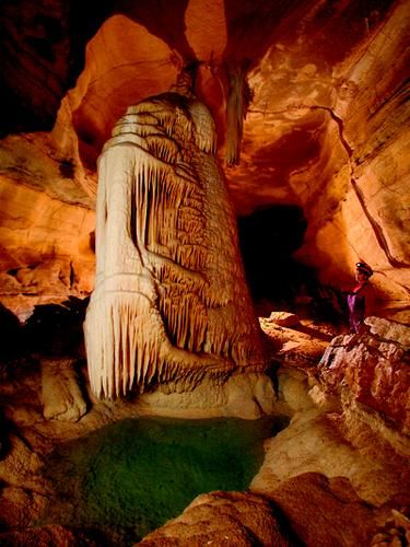 Cumberland Caverns, TN.  Short ride from the Jack Daniels distillery in Lynchburg.  We went on a general tour and a spelunking tour followed by an overnight stay in the cavern -- so much fun!  They also offer bluegrass concerts in one of the larger caves. Very cool place to visit