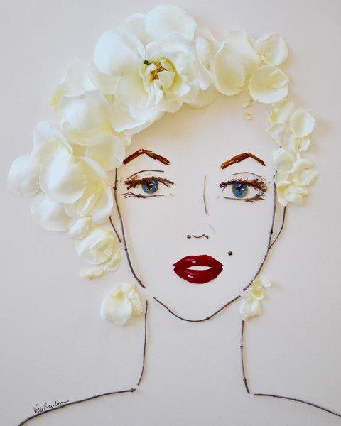 """""""Marilyn"""" Flower Face Print:"""