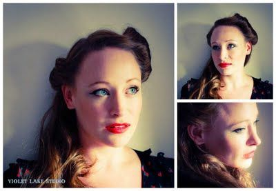 Pin-up style hair and makeup. Photos by Chris Cooke