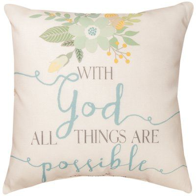 With God All Things Are Possible, Outdoor Pillow