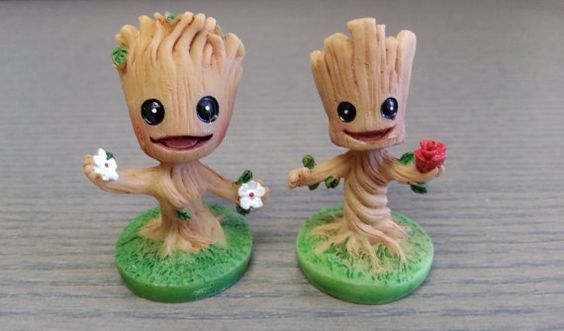 Baby Groot Miniature Figurine - Guardians of the Galaxy Inspired - Resin