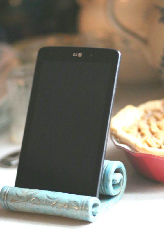 Keramik ipad halter / ständer / küche / tablet / handyhalter ...