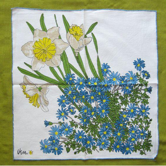 vintage vera ladybug logo cloth napkins set of seven