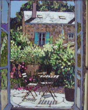 Mike Hall original 'View of French Garden':